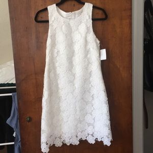 NWT White flower lace summer dress